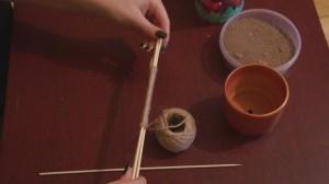 1- Ножка для елки топиария