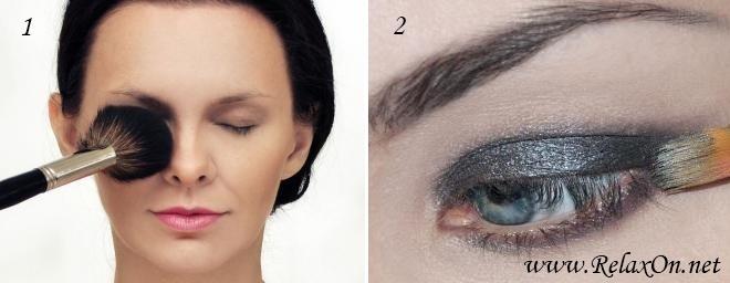 1 Пошаговый макияж для голубых глаз