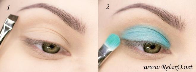 1-макияж для серо-зеленых глаз пошагово