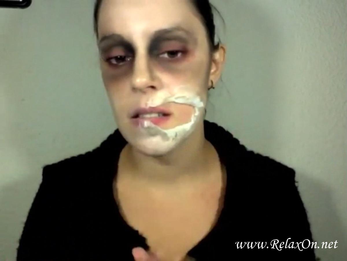 10-макияж на хэллоуин зомби пошагово