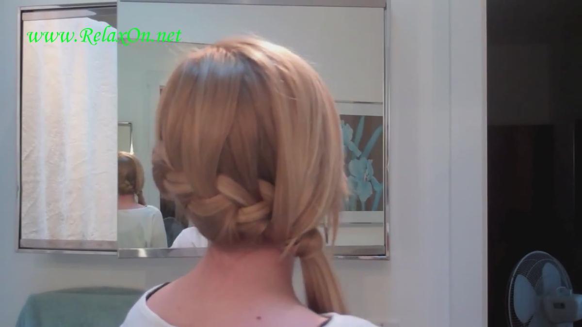 видео урок причесок на средние волосы