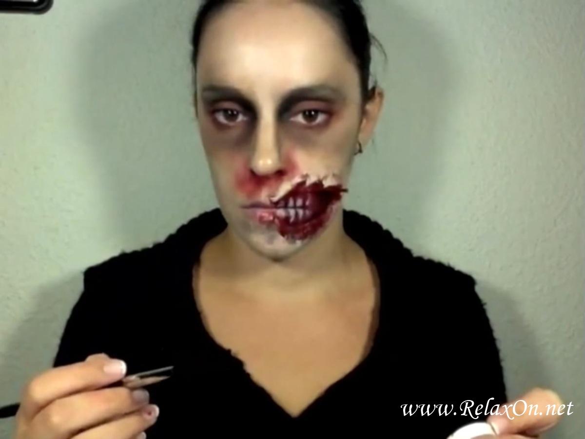 19-макияж на хэллоуин зомби пошагово