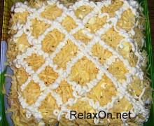 Салат курица с ананасами