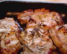 Антрекот из свинины в духовке