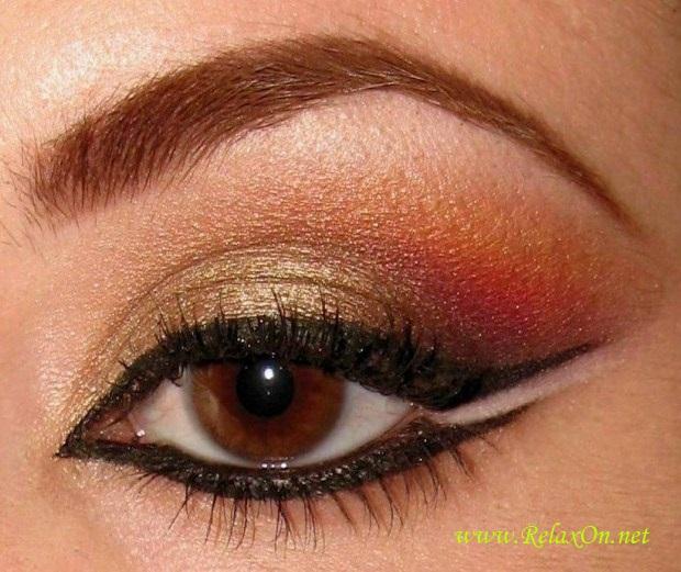 25-Макияж для карих глаз