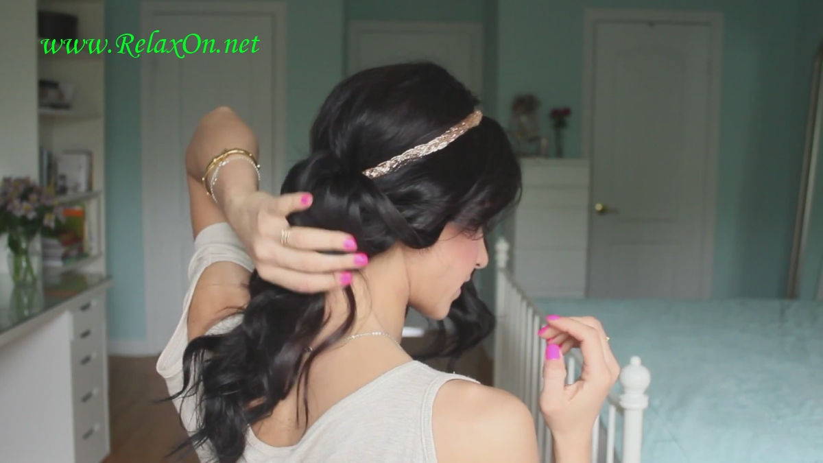 3 Как сделать греческую прическу с повязкой укладываем волосы