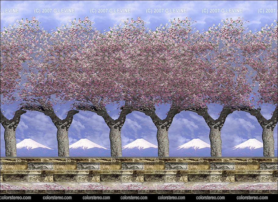 3 d изображение сакура сложная