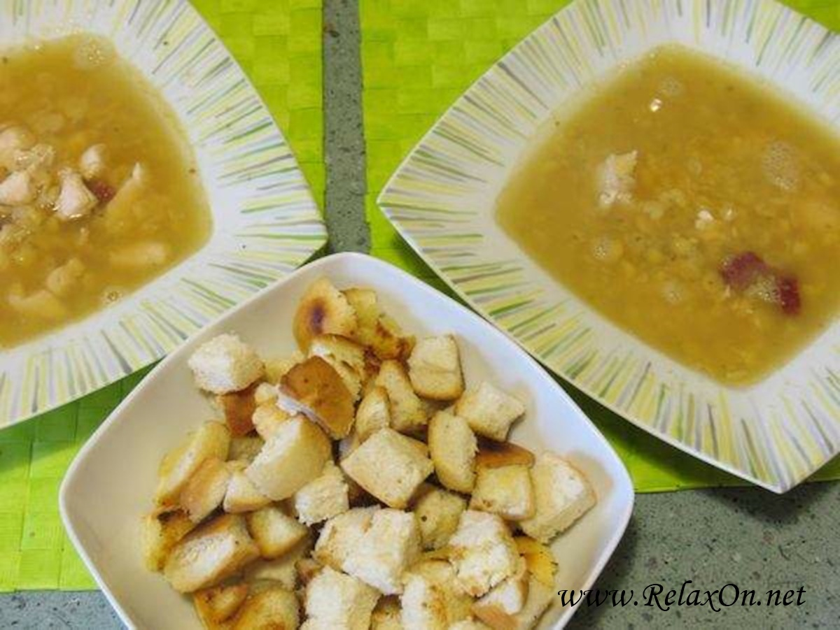 4 Гороховый суп на бульоне с фото