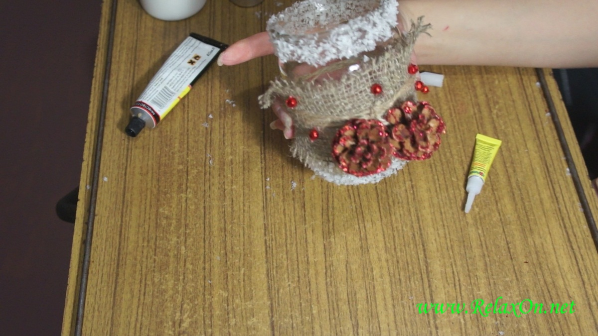 5-Новогодний подсвечник пошаговая инструкция