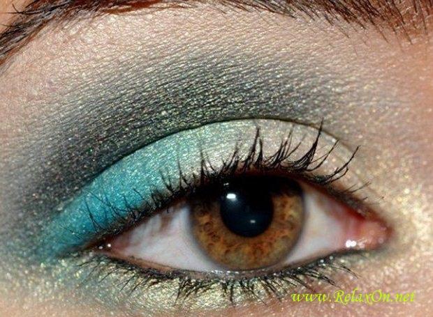 6-Макияж для карих глаз