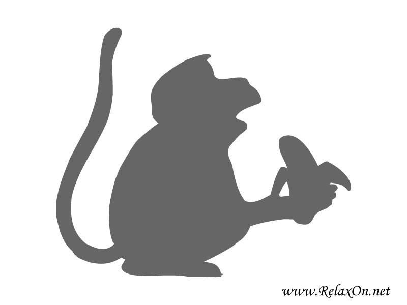 6-шаблон обезьяны для вырезания