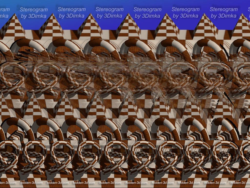 7- Смотреть сложные стереокартинки