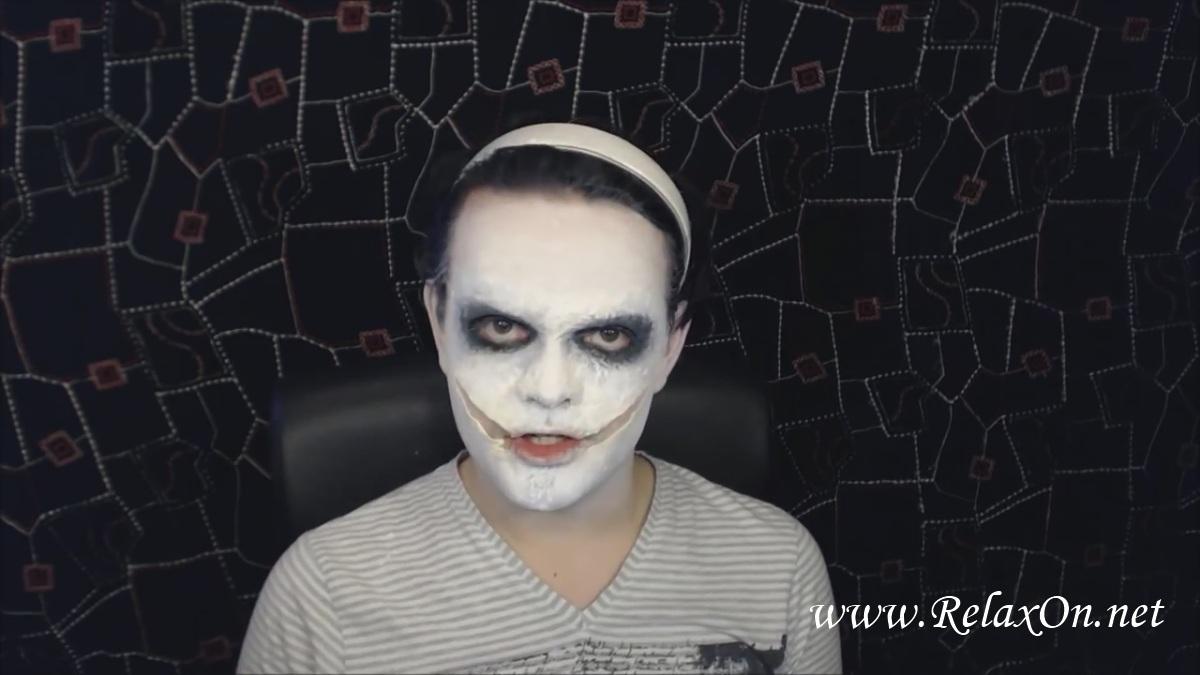 8- макияж Джеффа убийцы пошагово