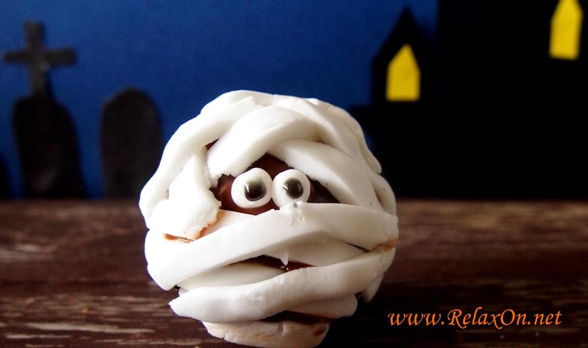 Блюдо на Хэллоуин мумия