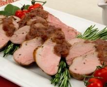 Филе свинины с соусом