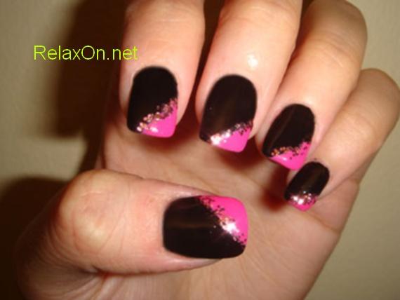 Фото черных ногтей