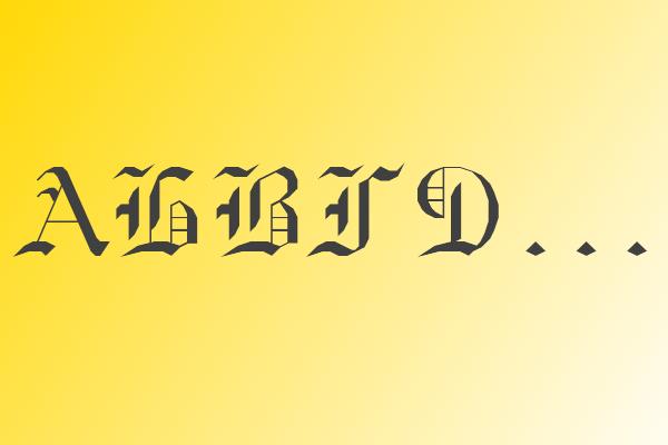 Готический шрифт трафарет букв