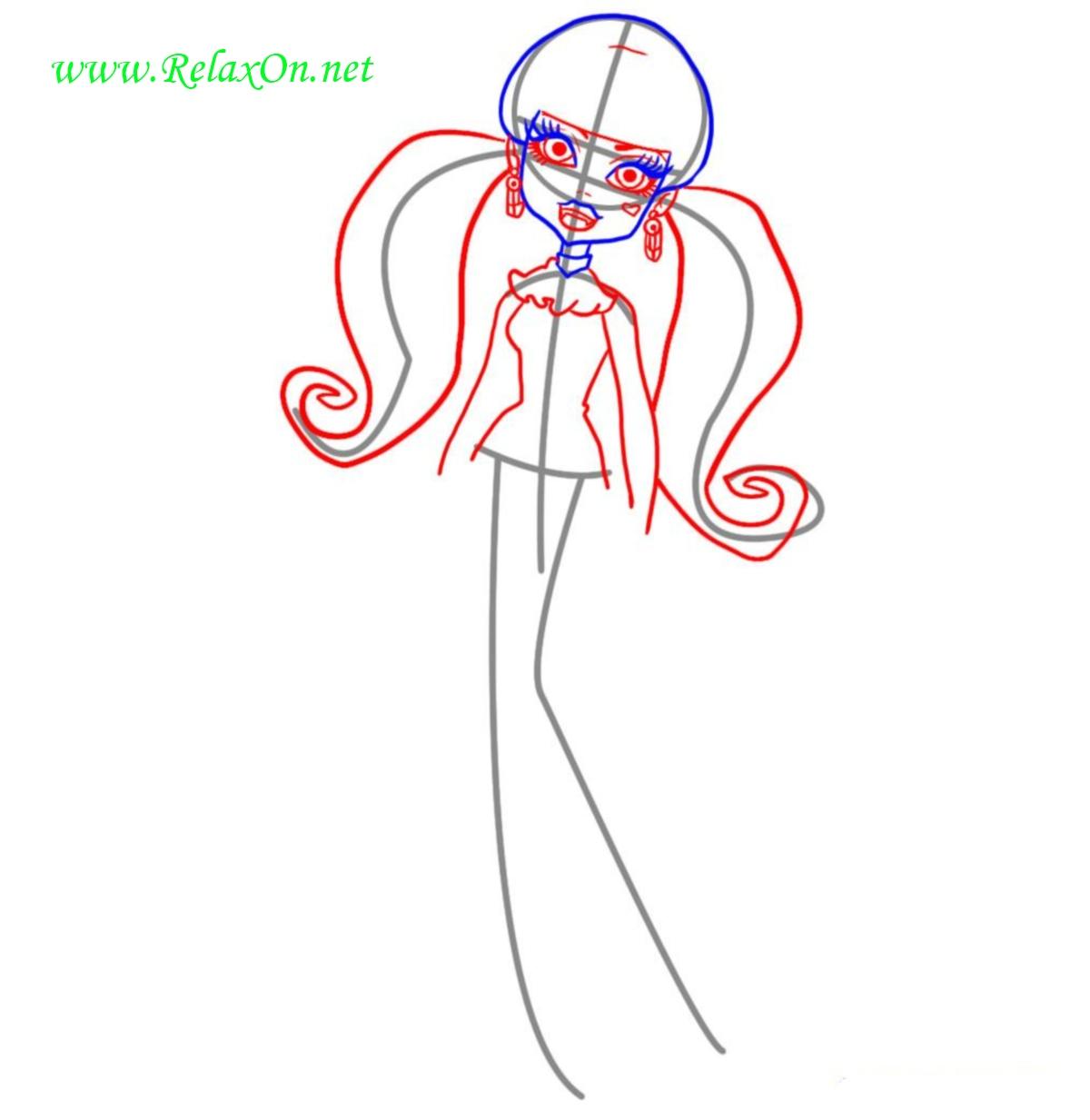 Как нарисовать Дракулауру шаг 3