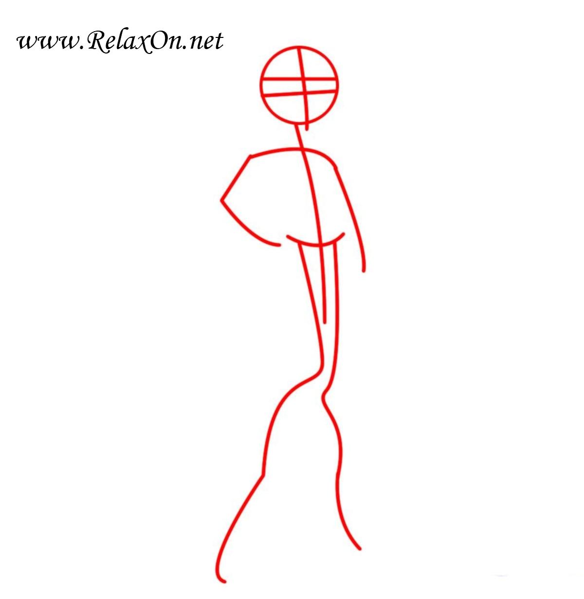 Как нарисовать Клодин Вульф Шаг 1