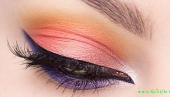 Контрастный макияж глаз