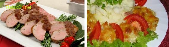 Мясо по французски и филе