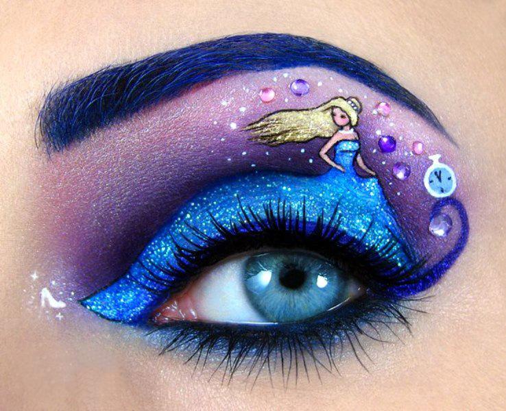 Новогодний макияж голубые глаза