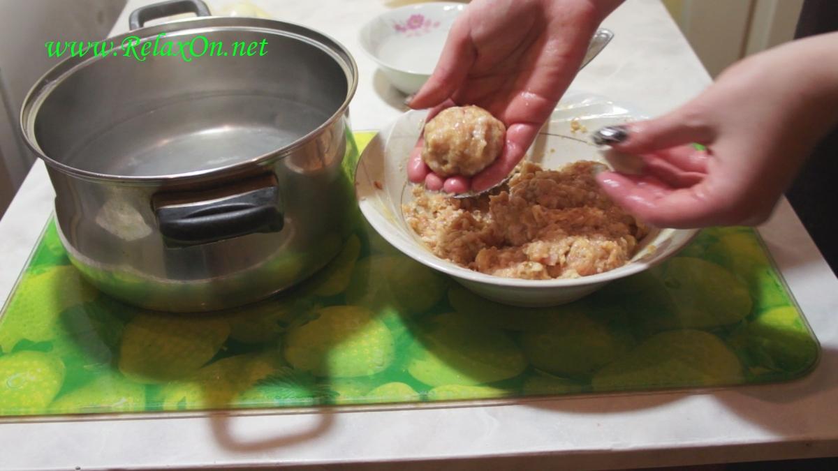 Пошаговый рецепт супа с фрикадельками