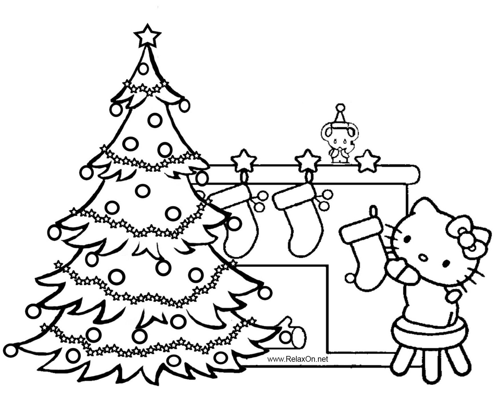 Скачать новогодние раскраски елочка