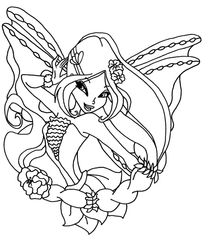 Раскраска флоры из винкс