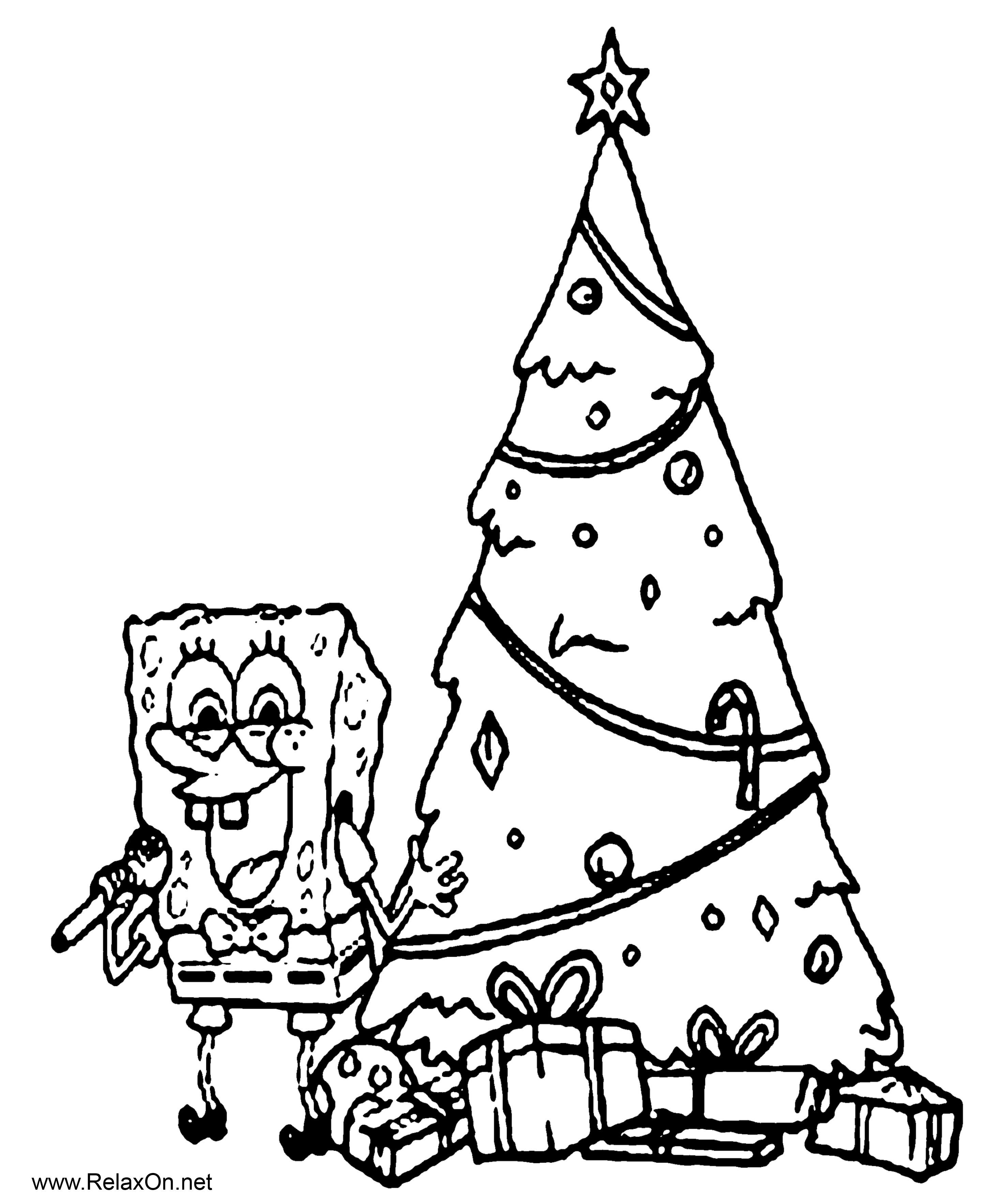 Рождественская раскраска для детей