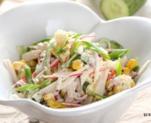 Салат из крабовых палочек с йогуртом