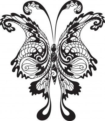Трафарет для украшения окна Бабочки