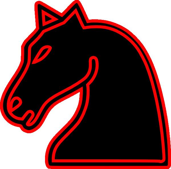 Трафарет из бумани на окно шахматный конь