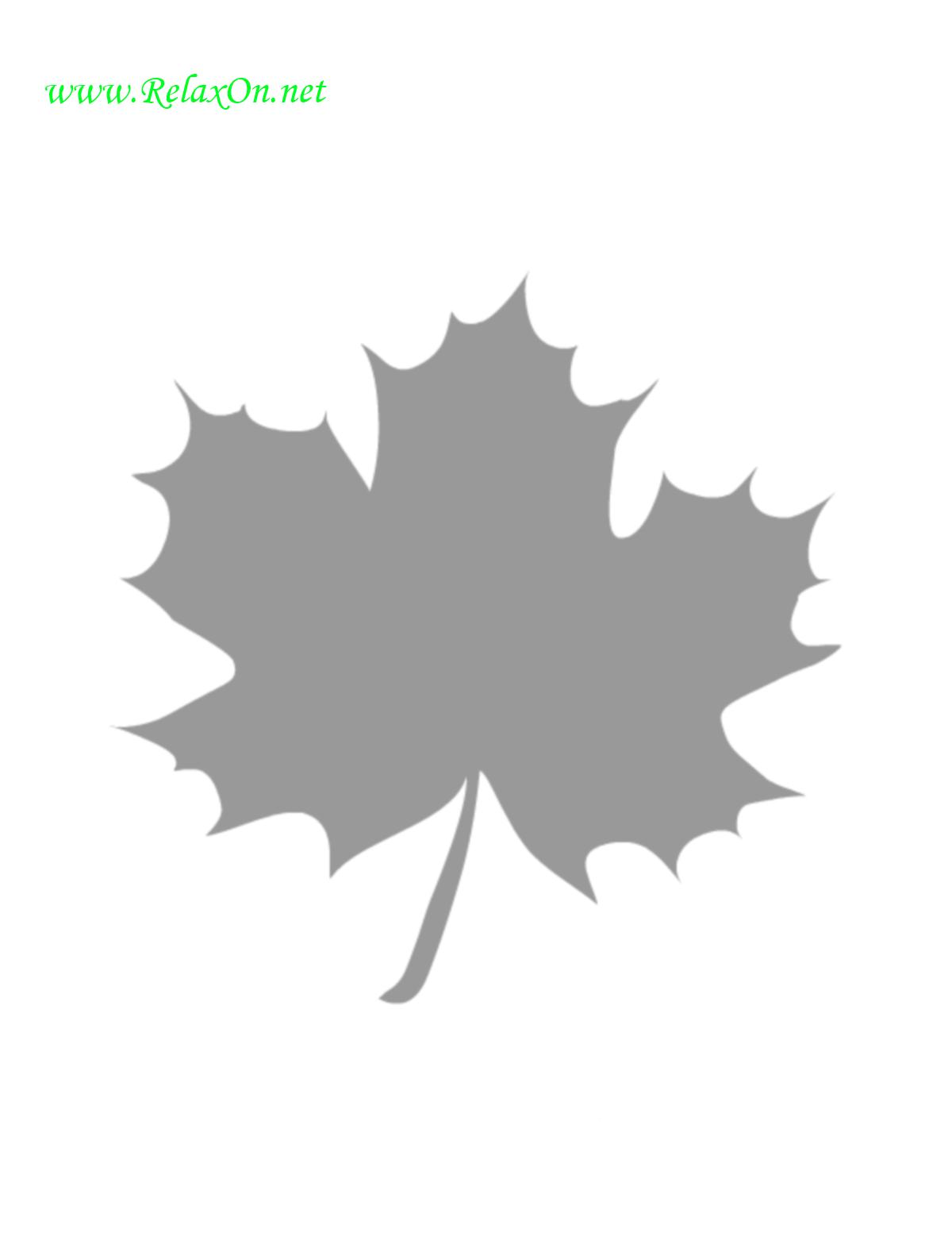 Трафарет кленовых листьев-6