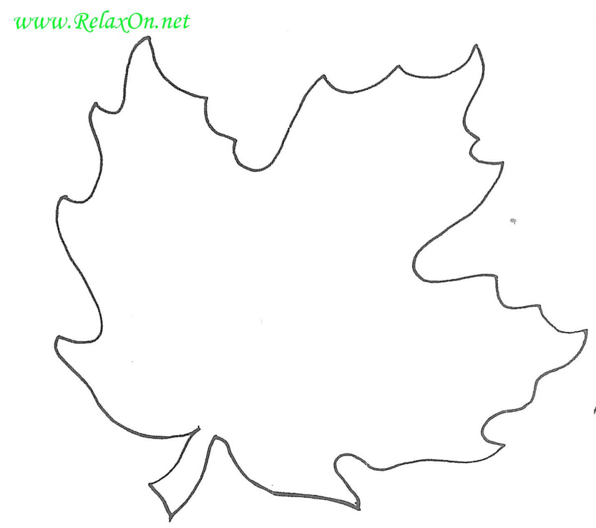 Трафарет кленовых листьев-9