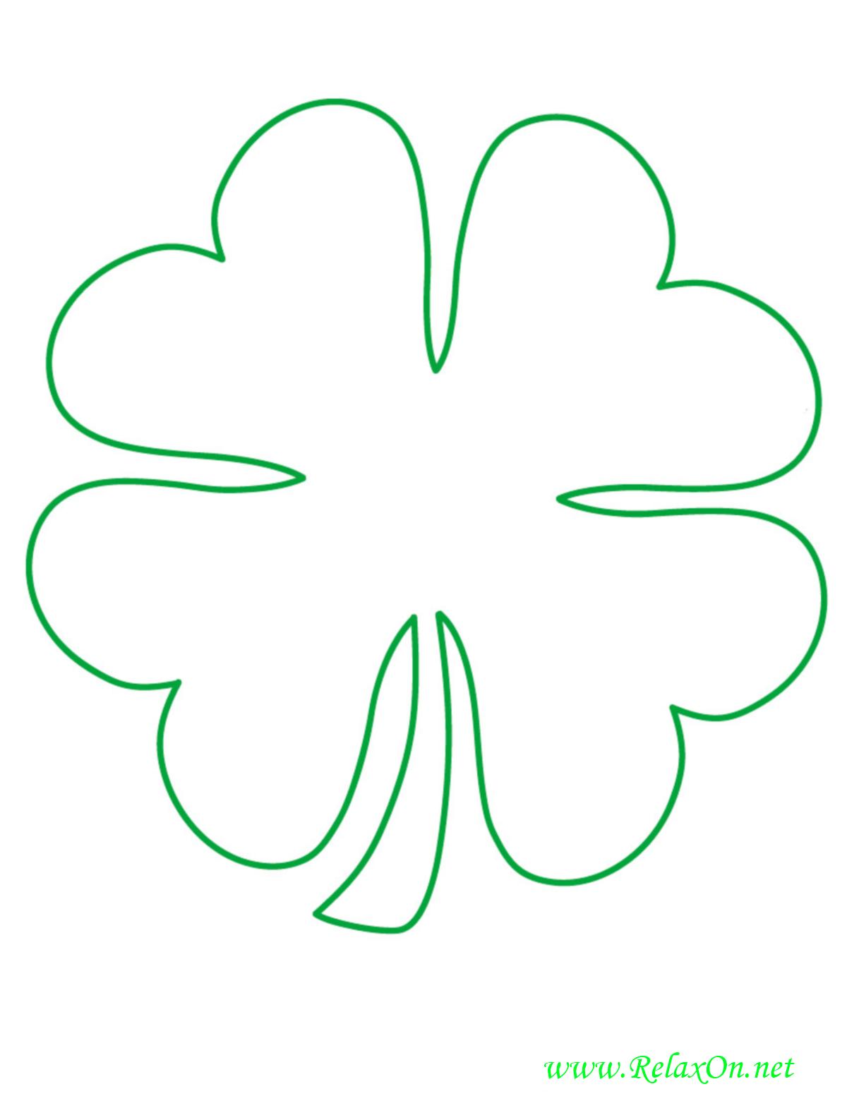 Трафарет листьев-4