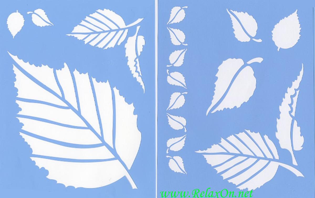 Трафарет листьев-8