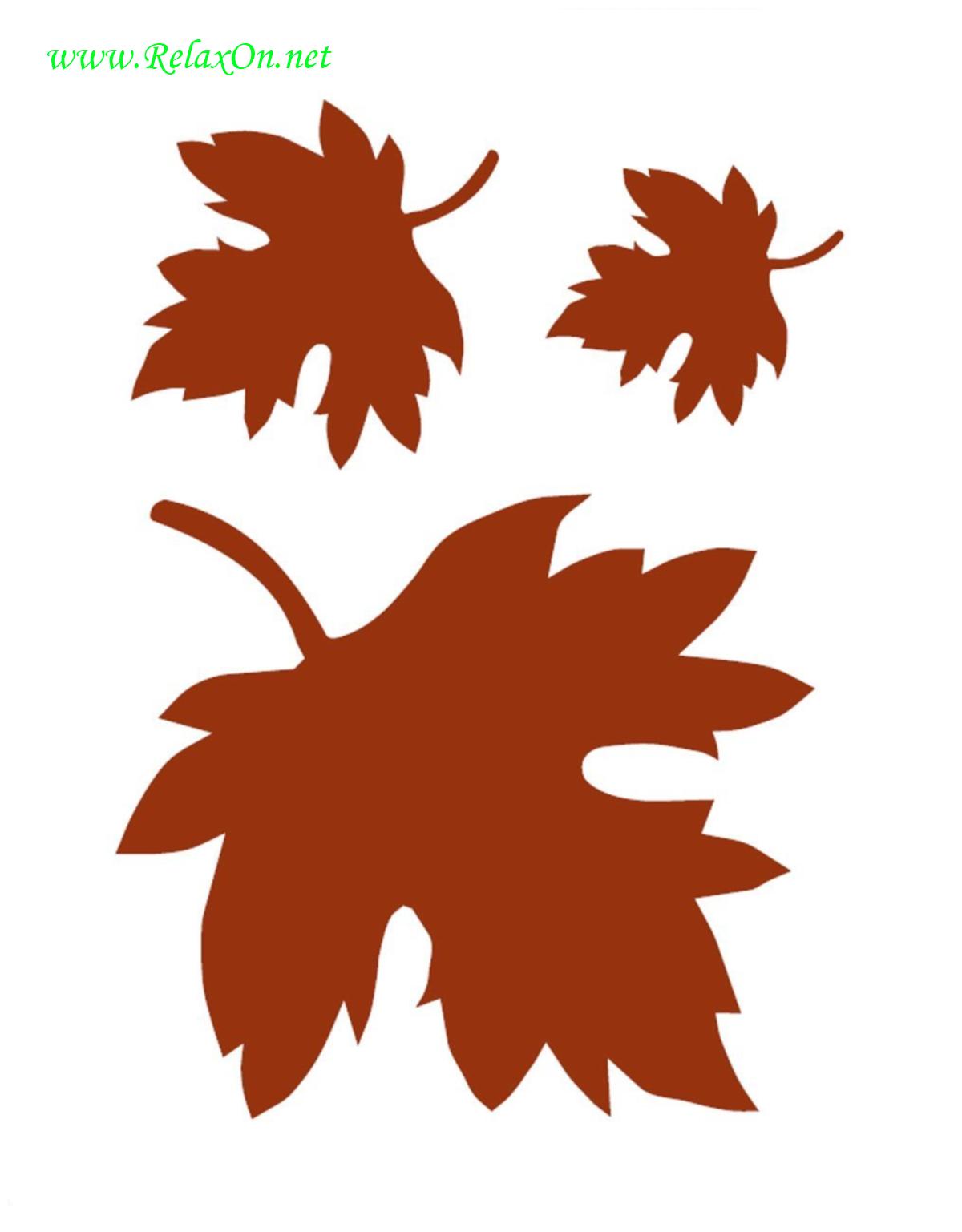 Трафарет листьев клена-1