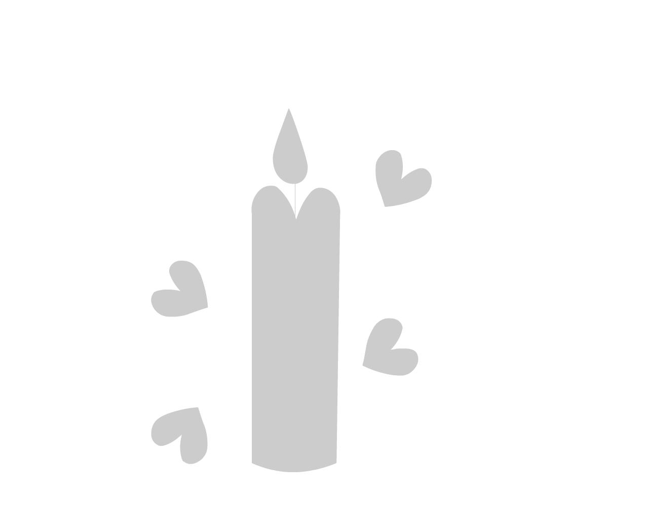 Трафарет свеча