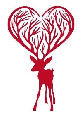 Украшение из бумаги- влюбленный олень