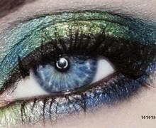 Вечерний макияж на голубые глаза