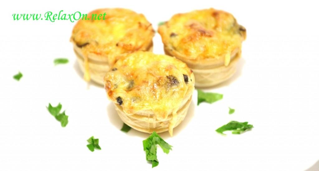жульен с курицей и грибами в тарталетках рецепт в духовке
