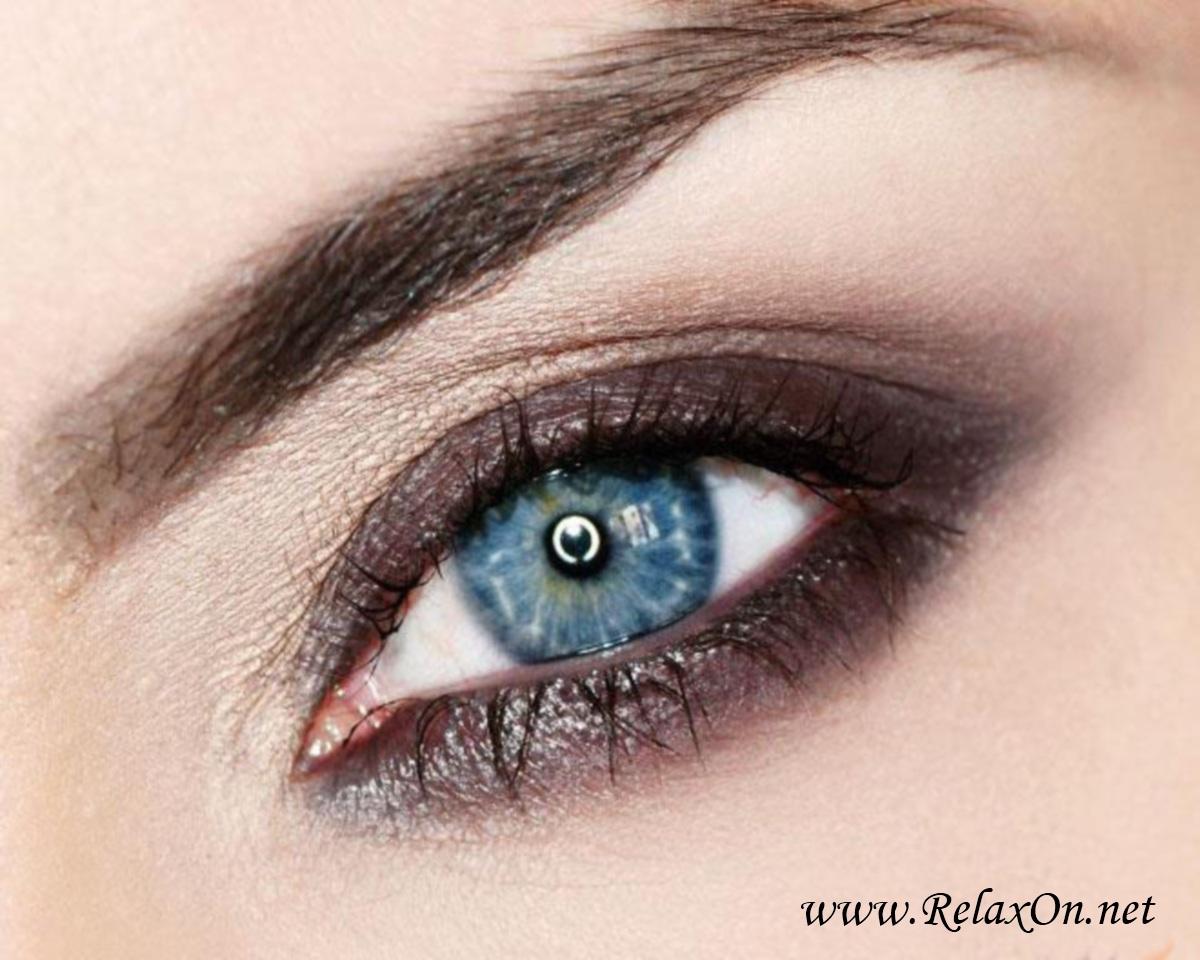 макияж для голубых глаз с пошаговыми фото