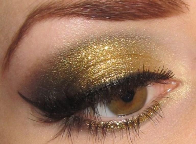 светло карие глаза новогодний макияж
