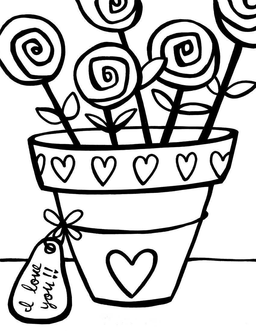трафарет цветы