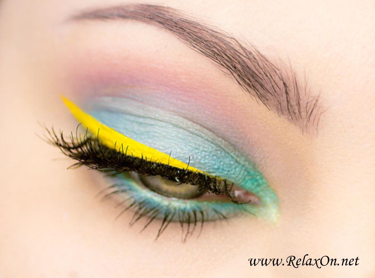 вечерний макияж на серо зеленые глаза
